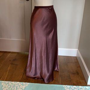 Max Mara plum ankle length drape skirt